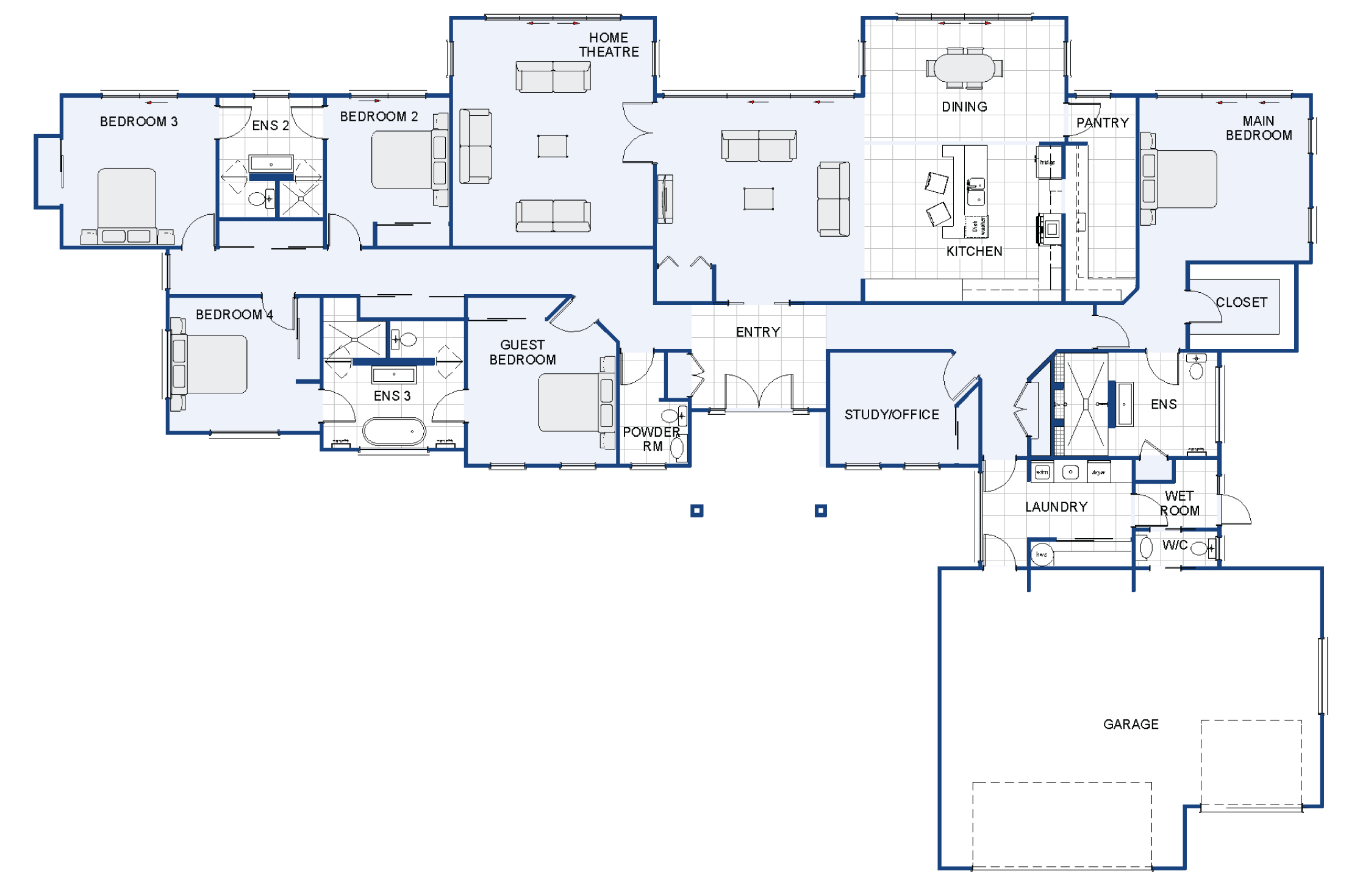 Pukaki new house plan and design wellington kapiti for Room design kapiti