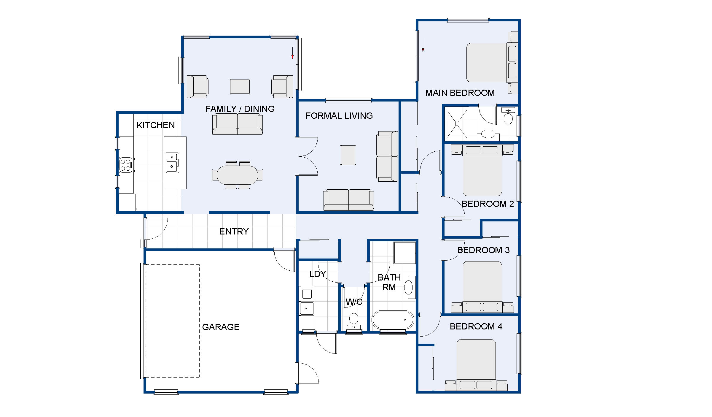 Charleston new house plan and design wellington kapiti for Room design kapiti